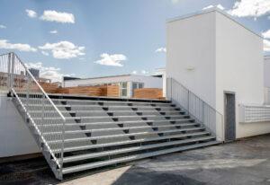 Udendørs trappe og rooftop i København
