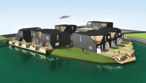 3D grafik af Åbyen i Grenå